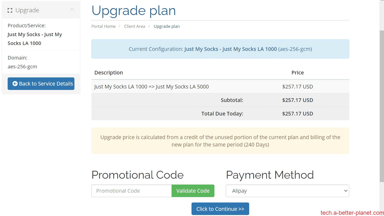 Upgrade-plan-pay-JustMySocks套餐升级
